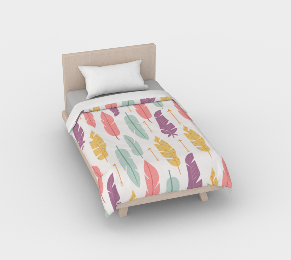 Colorful feathers pattern preview