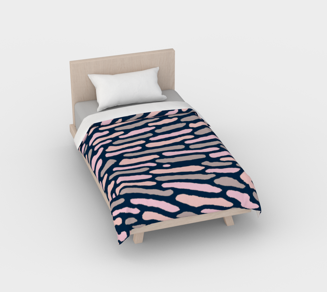 Organic Abstract - Navy Blue Duvet Cover preview
