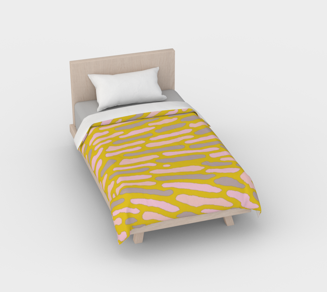 Organic Abstract - Yellow Lime Duvet Cover preview