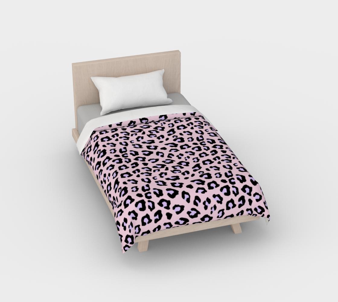 Leopard Print - Lavender Blush Duvet Cover aperçu