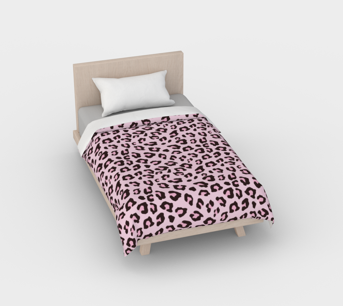 Leopard Print - Pink Chocolate Duvet Cover preview
