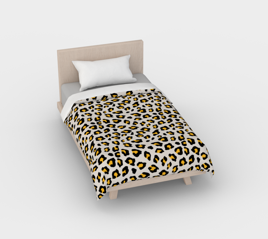 Leopard Print - Mustard Yellow Duvet Cover preview