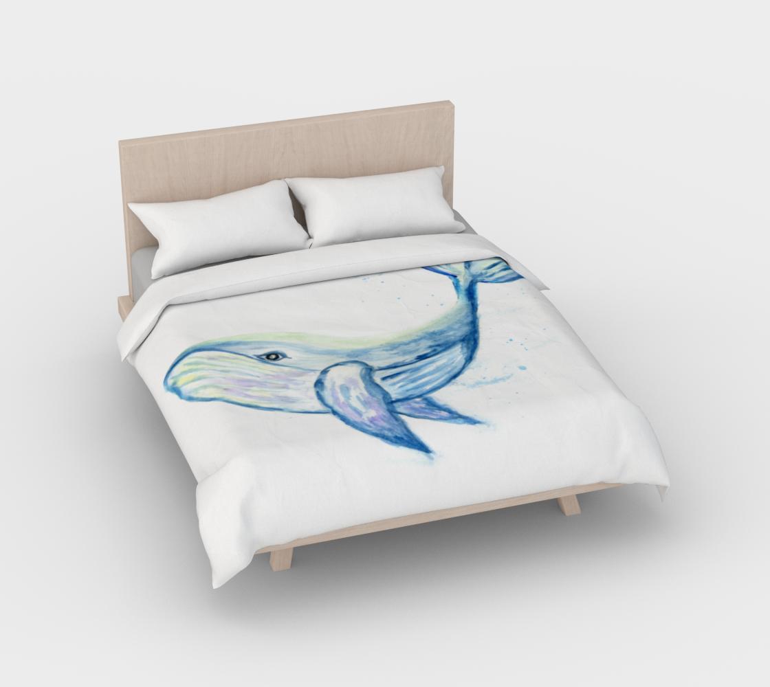 Aperçu de Blue whale watercolor #2