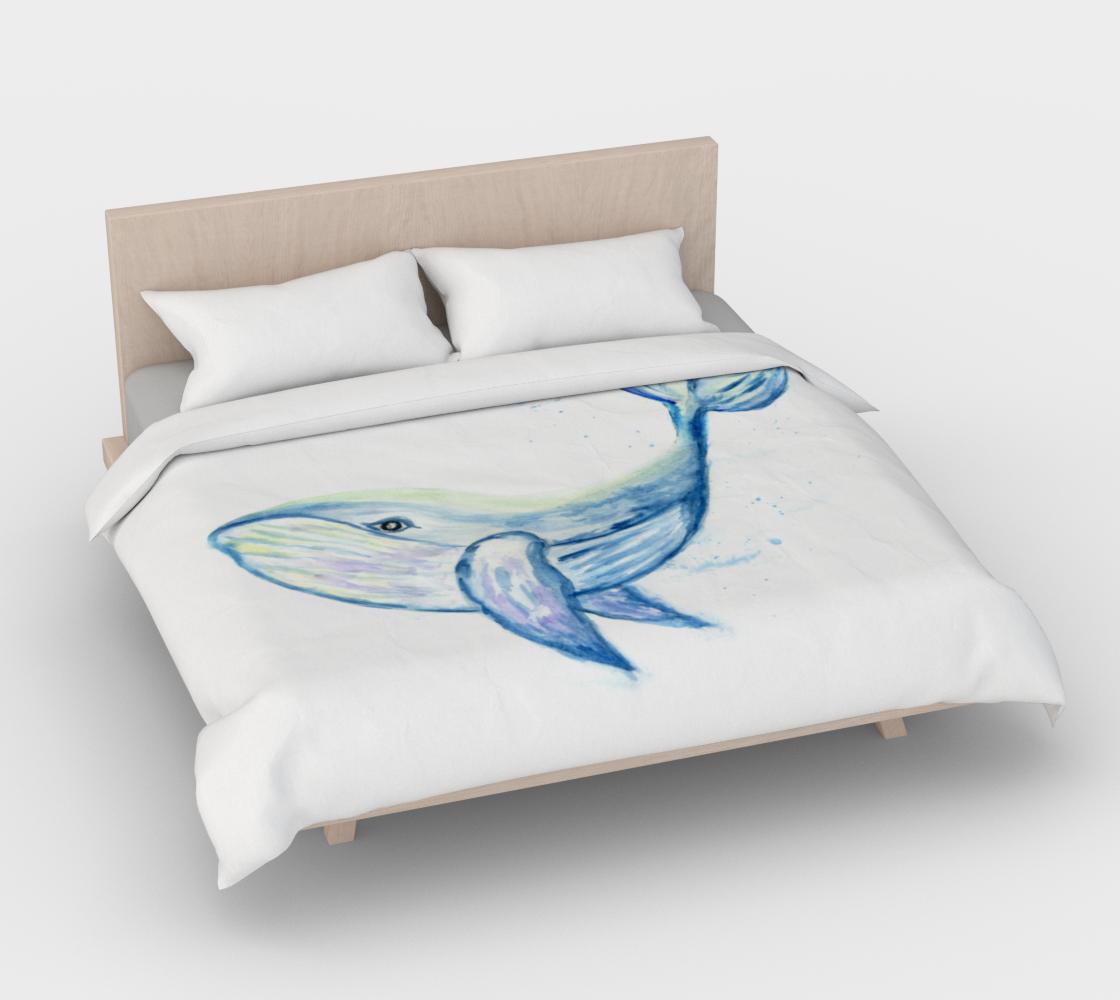 Aperçu de Blue whale watercolor #4