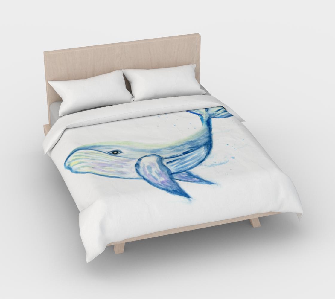 Aperçu de Blue whale watercolor #3