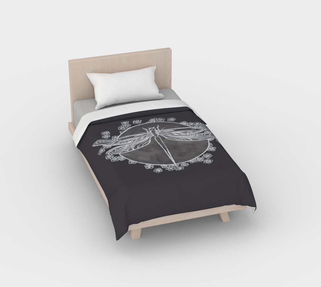 Twin Grey Dragon Fly Duvet preview