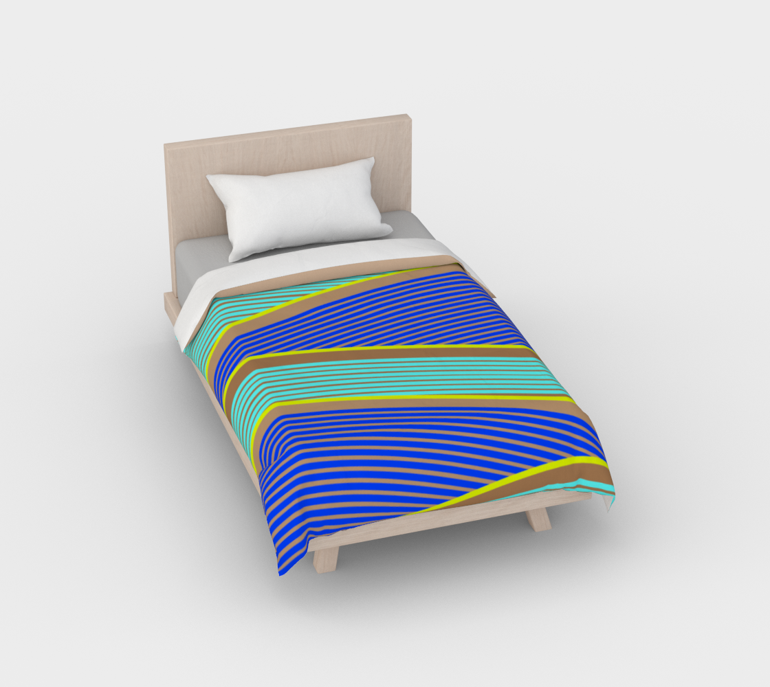 Happy Times - Neon Waves Duvet Cover preview