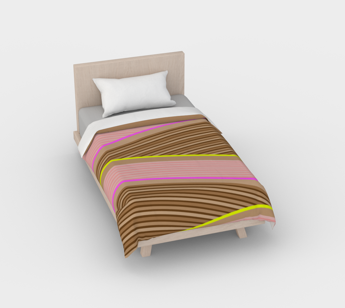 Happy Times - Chocolate Fields Duvet Cover preview