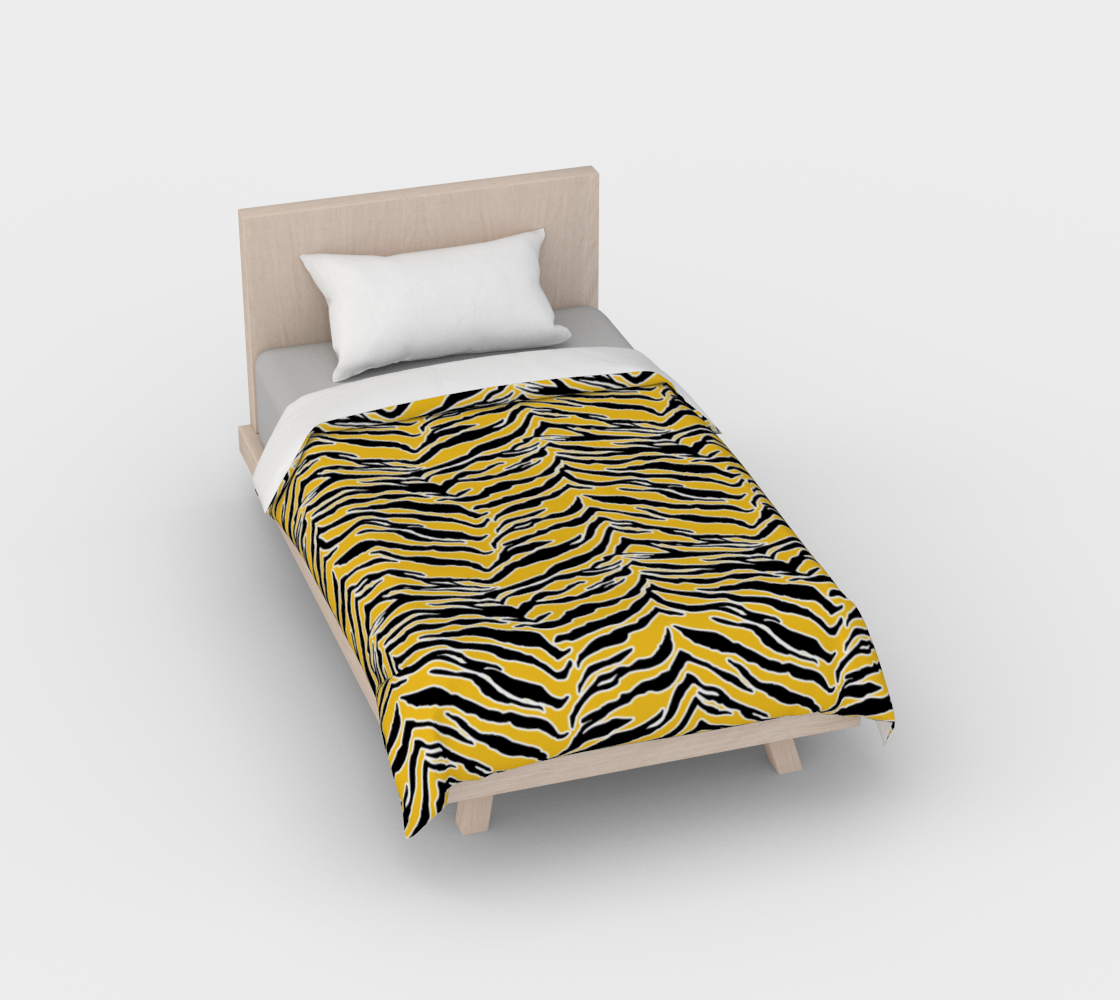 Tiger Print - Mustard Yellow Duvet Cover preview