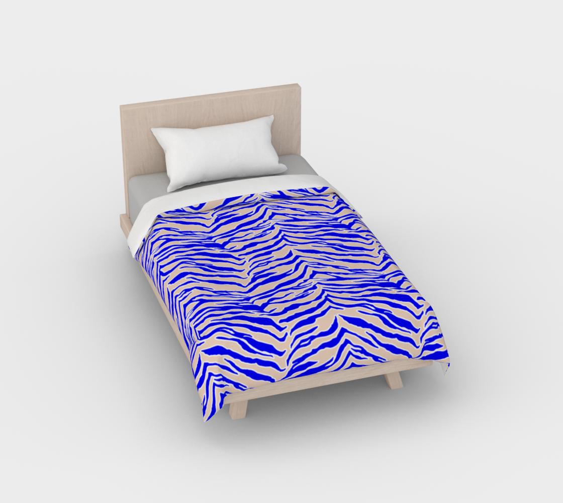 Tiger Print - Cobalt Blue Duvet Cover preview