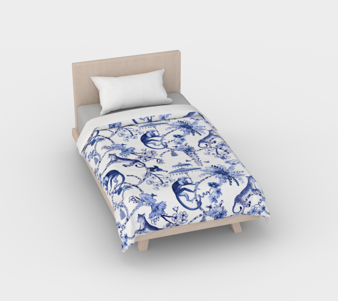 "Chinoiserie Duvet Cover - ""Chinoiserie Whimsy"" 