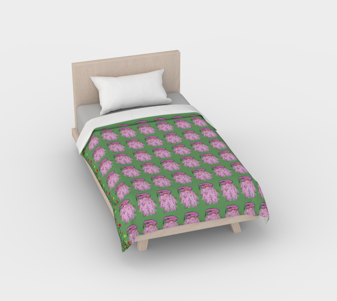 Pink Flower Gnome Duvet preview