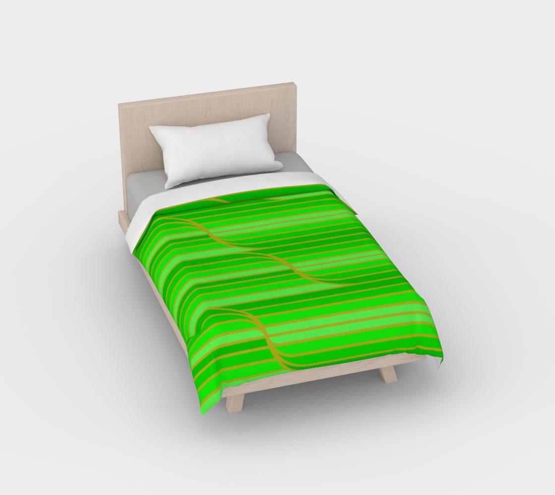 Geo Stripes - Green Duvet Cover aperçu