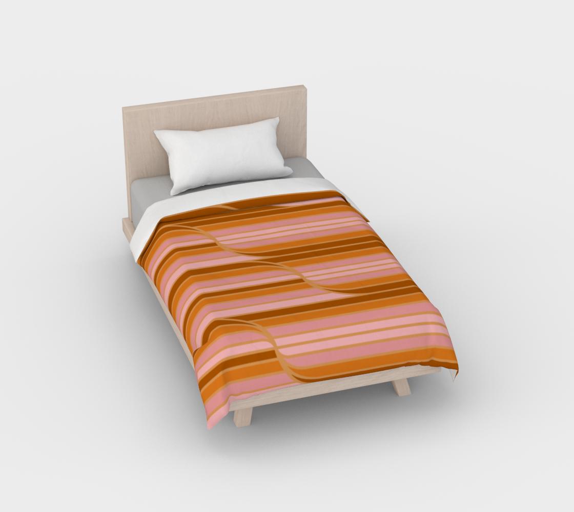 Geo Stripes - Butterscotch Duvet Cover aperçu