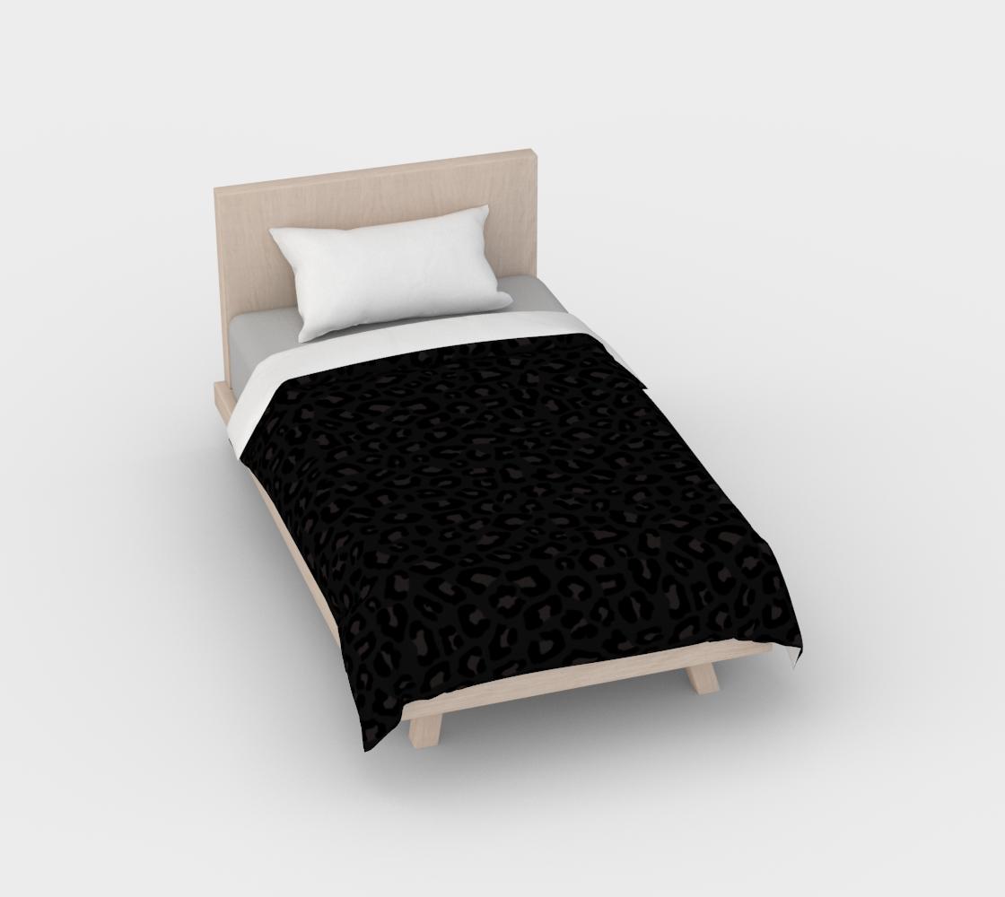 Leopard Print 2.0 - Black Panther Duvet Cover aperçu