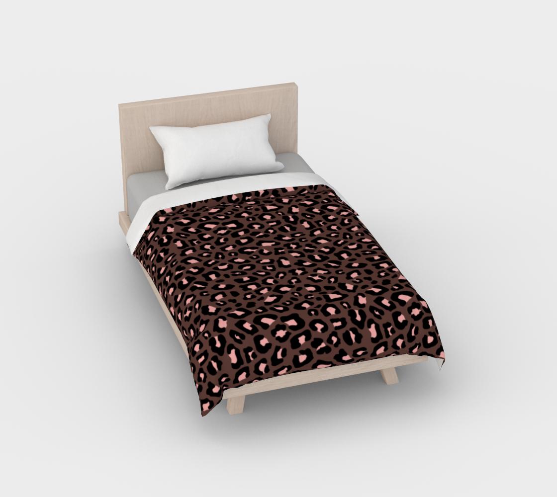 Leopard Print 2.0 - Brown & Blush Duvet Cover aperçu