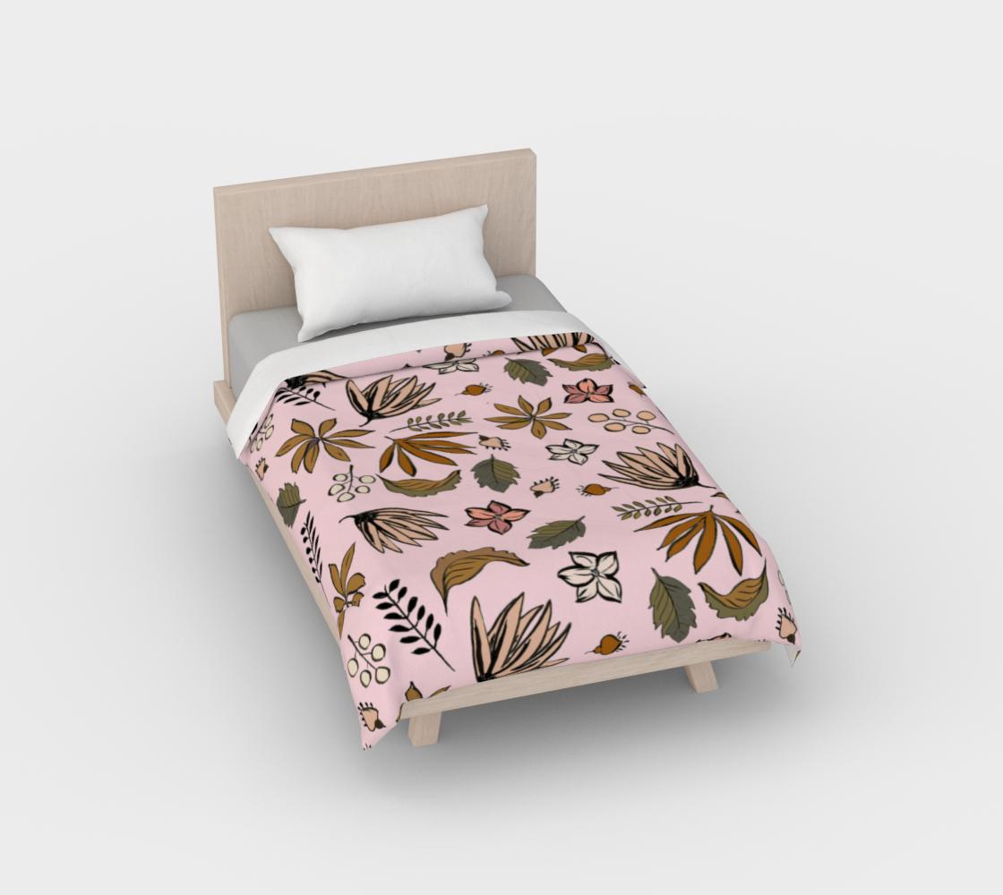 Aperçu de Pink Botanical Duvet