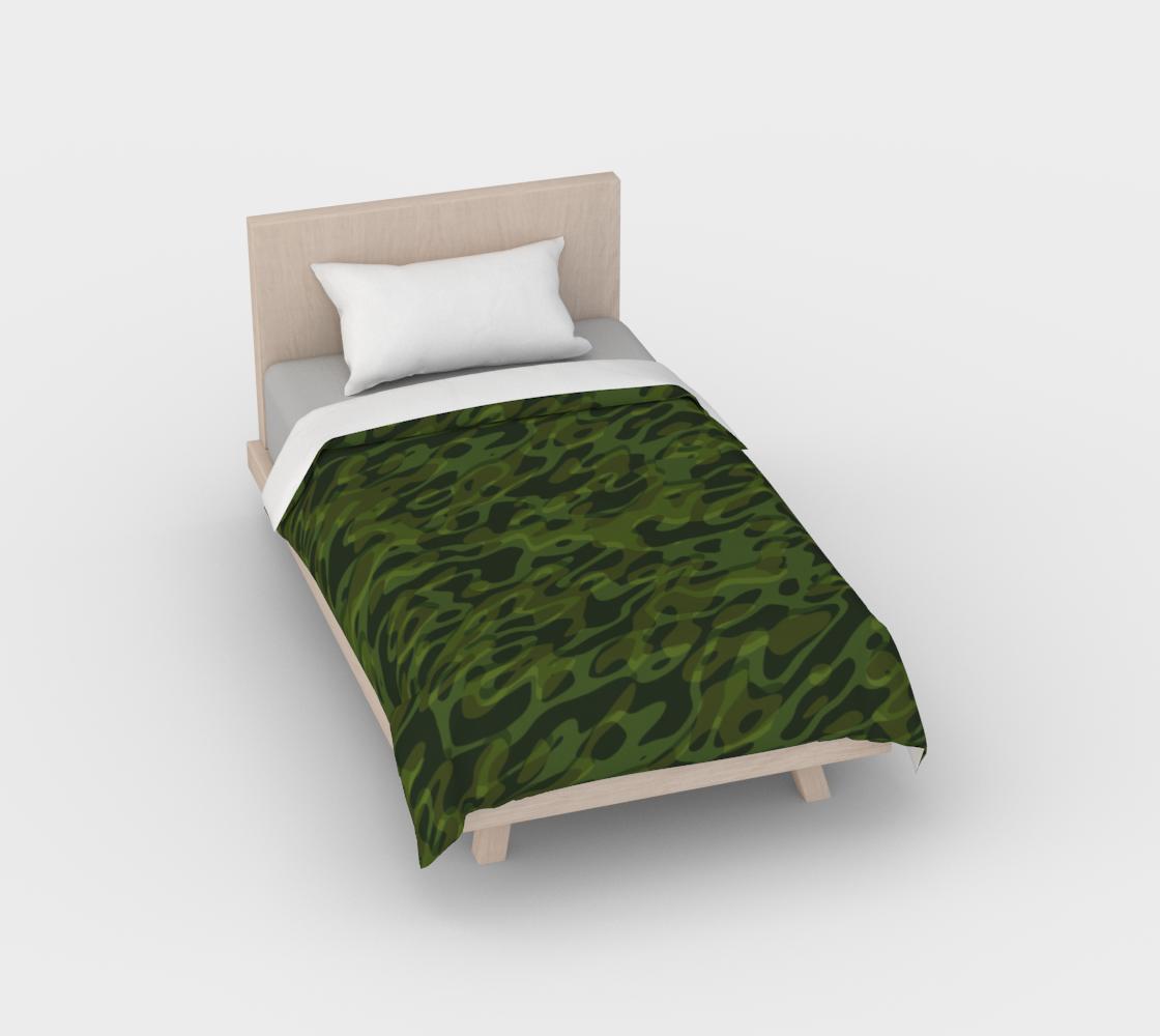 Aperçu de Army Green Camouflage Duvet Cover