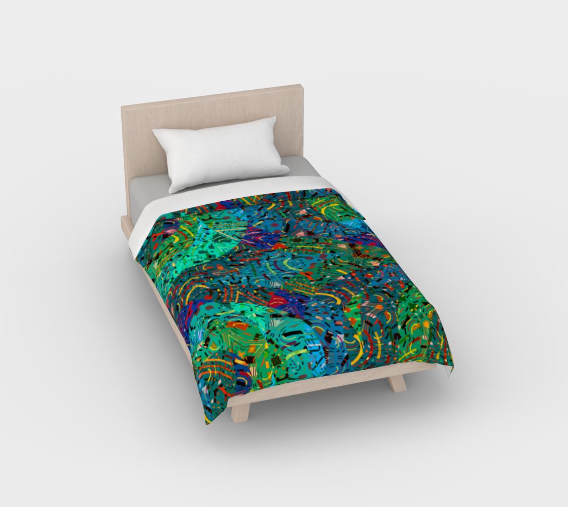 Aperçu de Colorful Art Collage Duvet Cover