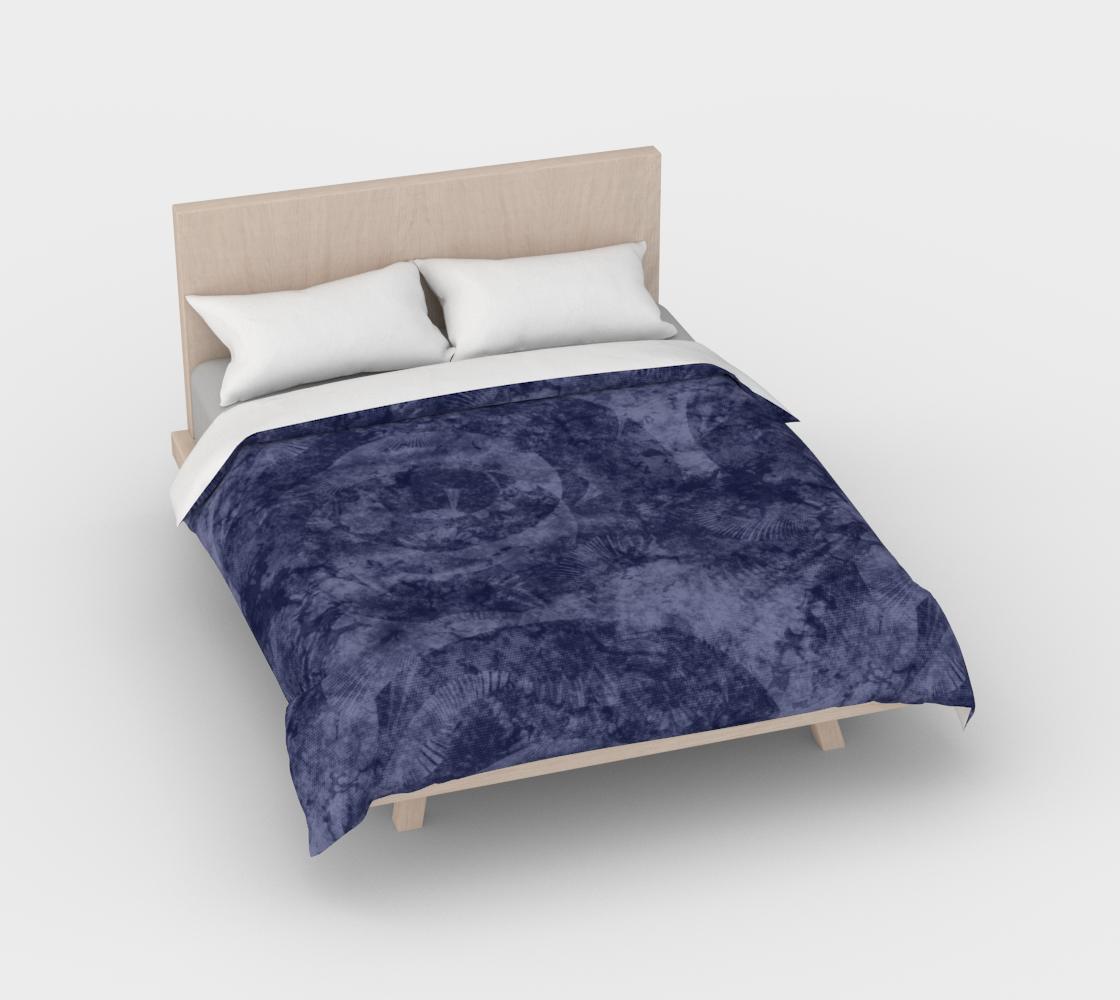 Aperçu de Faded Denim Blue Batik Style Duvet Cover #2