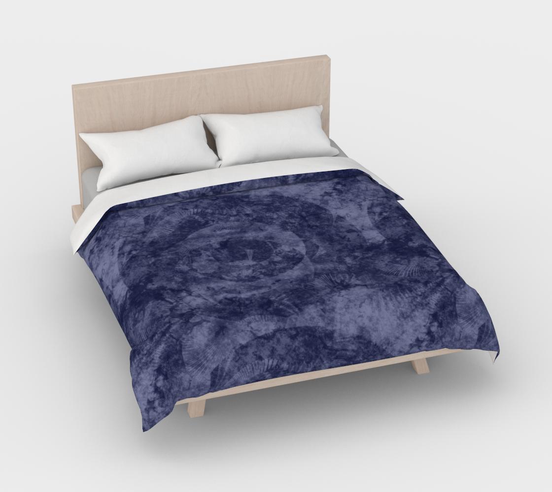 Aperçu de Faded Denim Blue Batik Style Duvet Cover #3