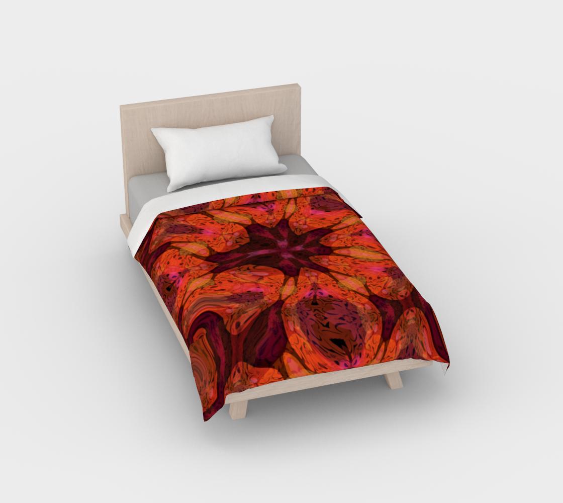 Aperçu de Abstract Floral Tiger Lily Duvet Cover