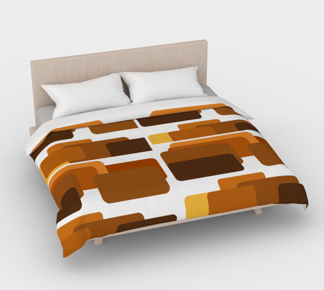 MCM retro brown squares duvet cover preview #4