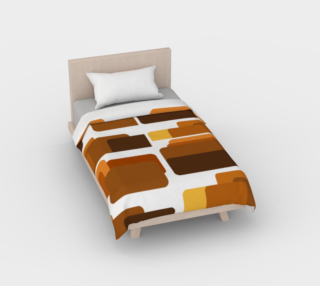 MCM retro brown squares duvet cover preview