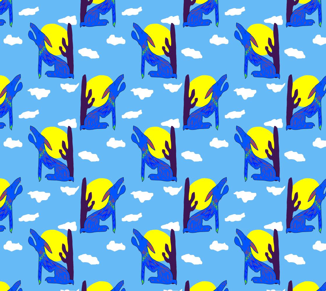 Aperçu de Blue Coyote Pattern
