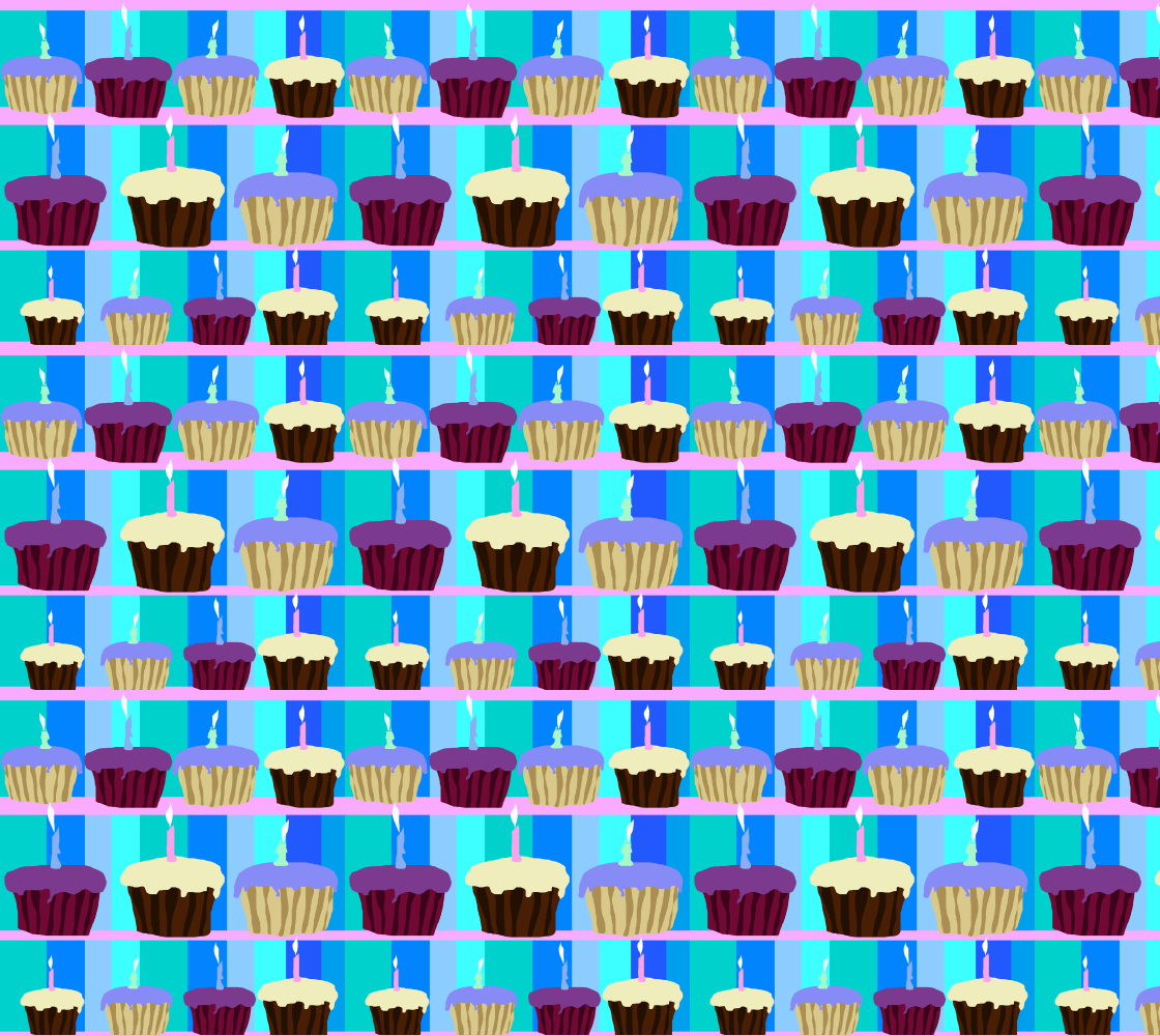 Aperçu de Cupcakes Pattern Fabric