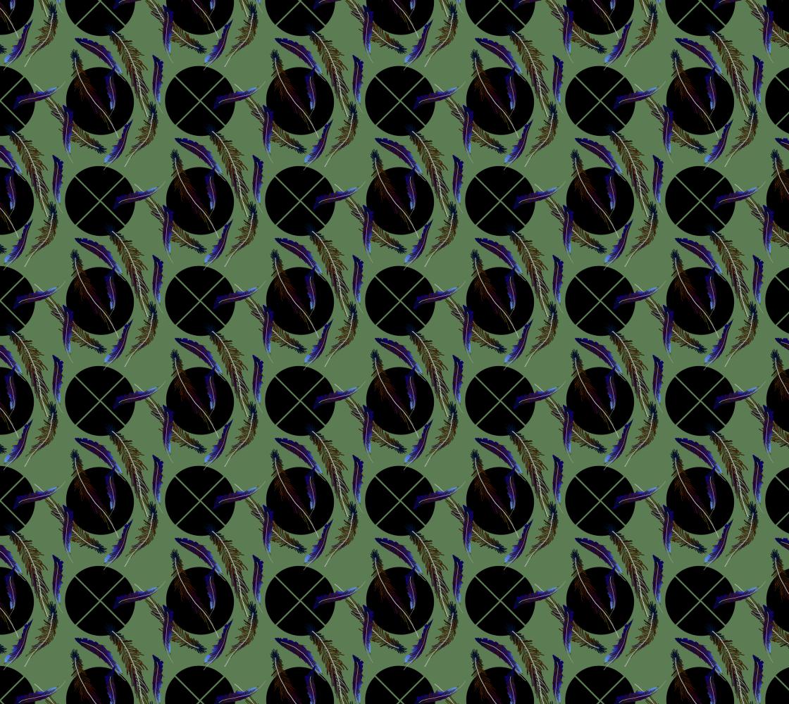 Aperçu de Feathers Pattern Fabric