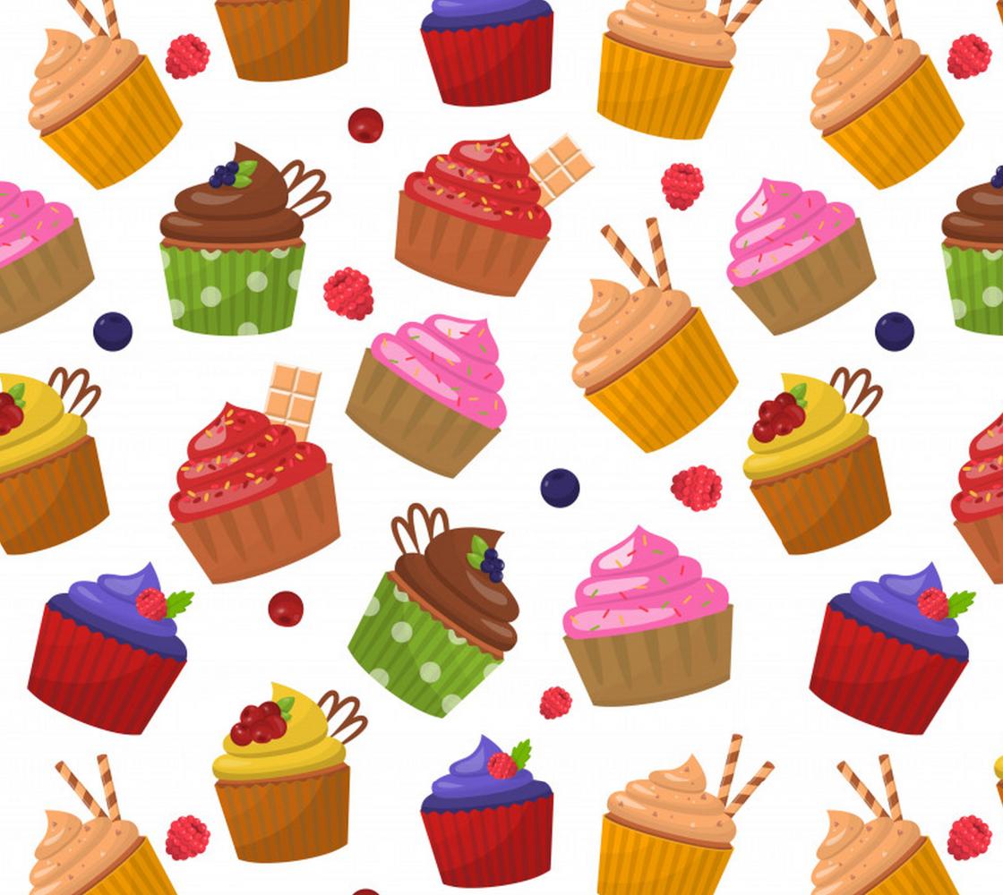 Aperçu de Cute Colorful Tasty Cupcakes