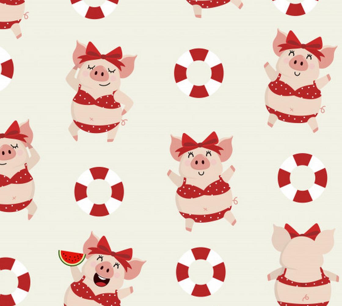 Aperçu de Pigs Wearing Bikinis