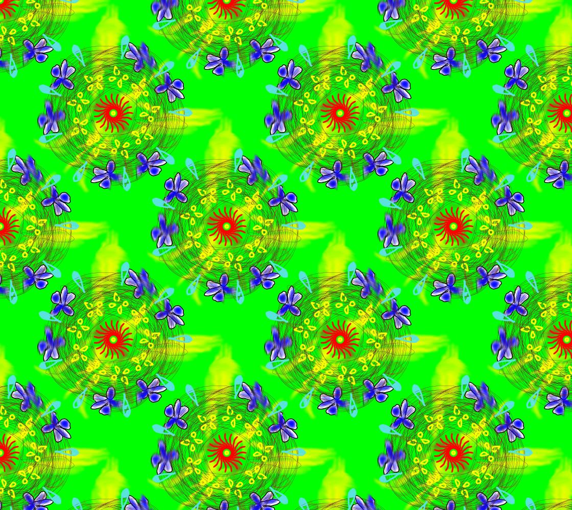 Aperçu de Flower Doodle Fabric