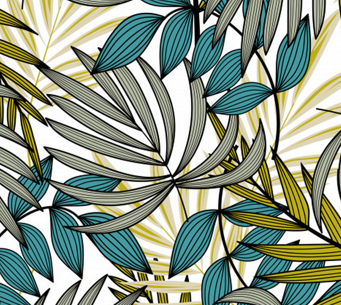 Aperçu de Gorgeous Tropical Leaves - Green and Teal