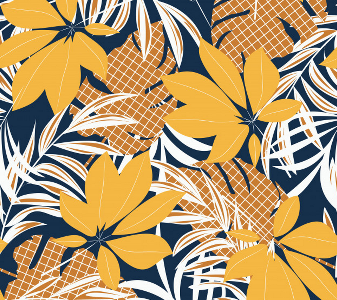 Aperçu de Beautiful Bright and Bold Tropical Yellow Floral