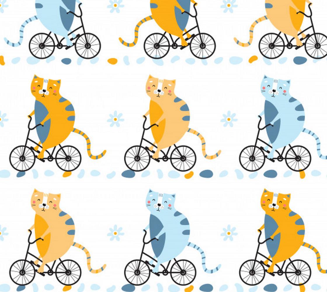 Aperçu de Cute Cats on Bicycles