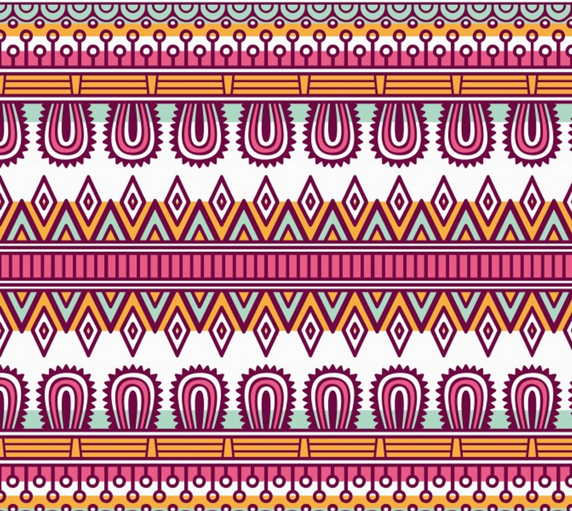 Aperçu de Ethnic Inspired Floral Abstract, Tribal Pattern