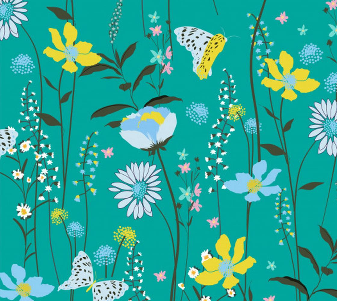 Aperçu de Bright Colorful Vintage Style Floral