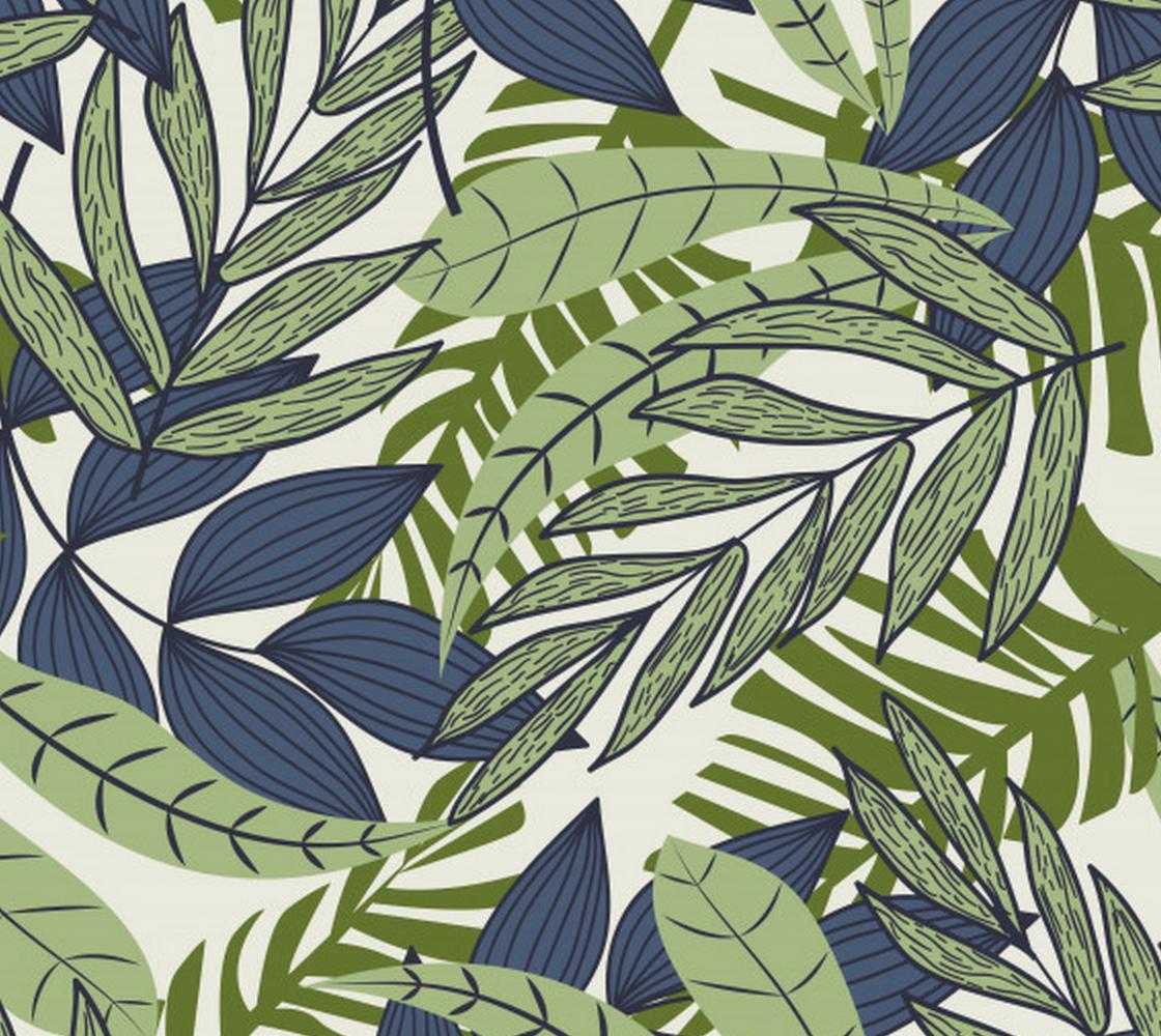 Aperçu de Tropical Jungle - Greens and Blue