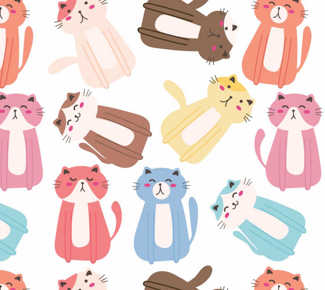 Aperçu de Cute Colorful Cats
