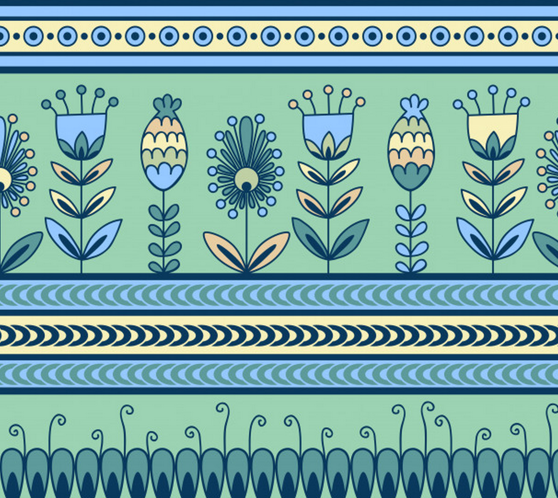 Aperçu de Super Cute Pattern with Retro Vintage Flowers