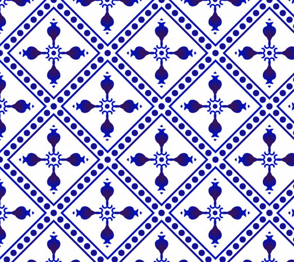 Aperçu de Dark Blue and White Decorative Geometric Abstract