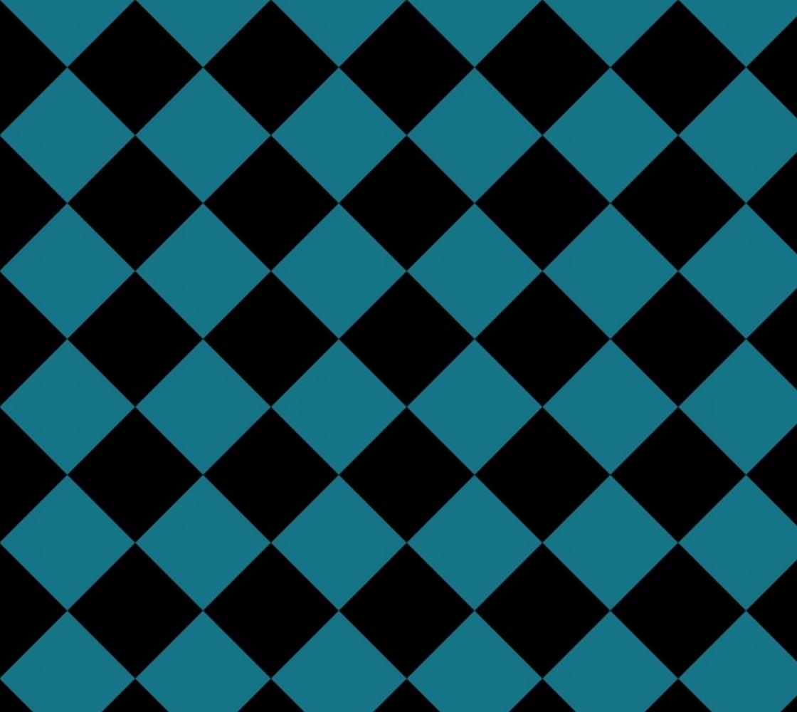 Aperçu de Black and Blue Geometric Diamond