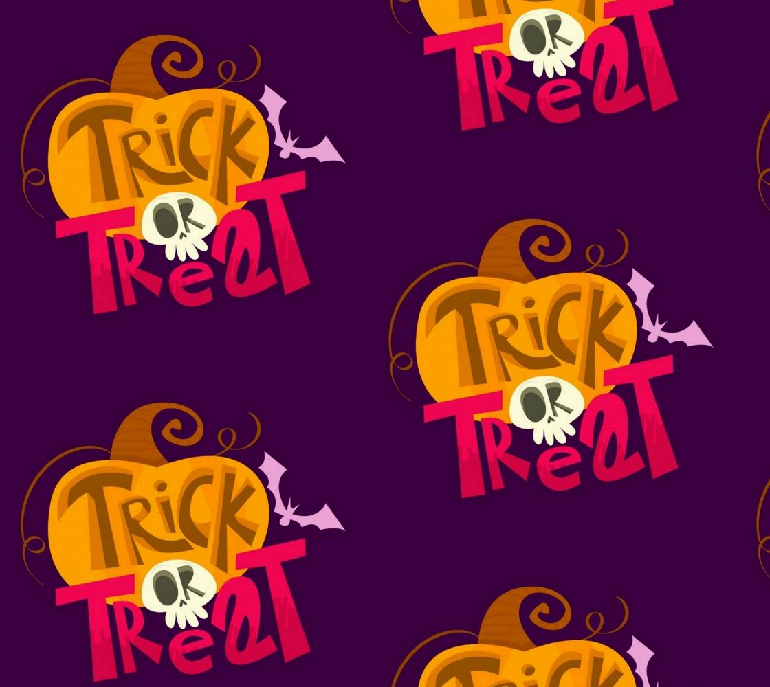 Aperçu de Cute Trick or Treat Halloween Fabric