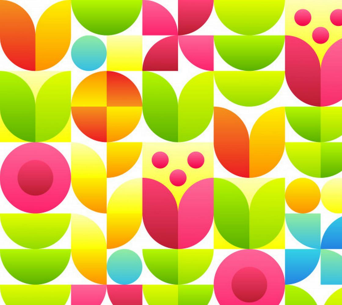 Aperçu de Bright Neon Abstract Floral