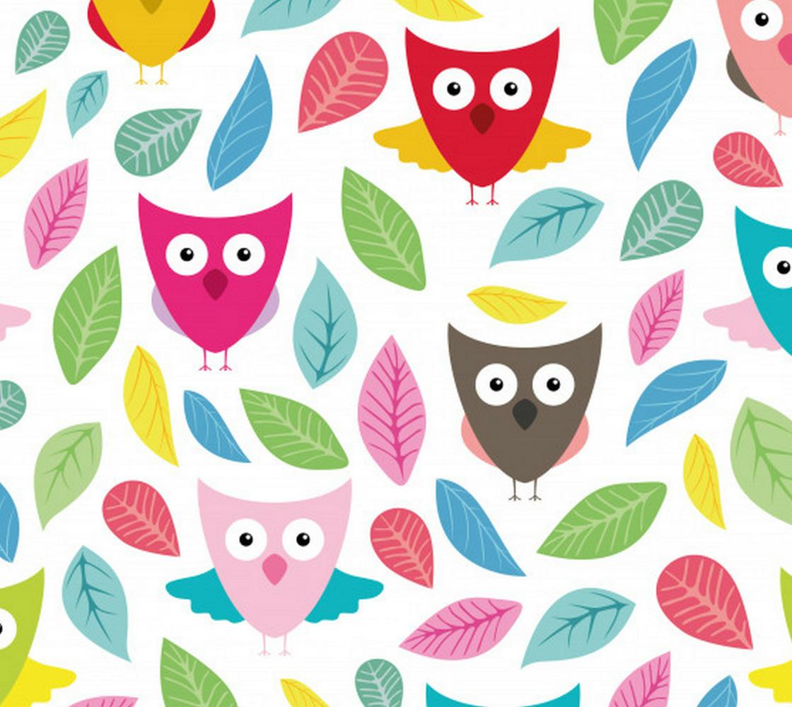 Aperçu de Sweet Colorful Retro Owls - Great for kids