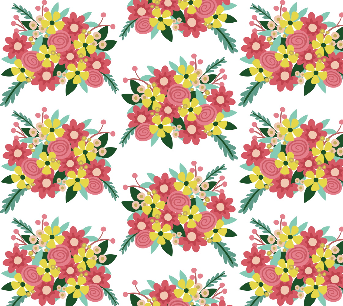Aperçu de Pretty Retro Mod Floral
