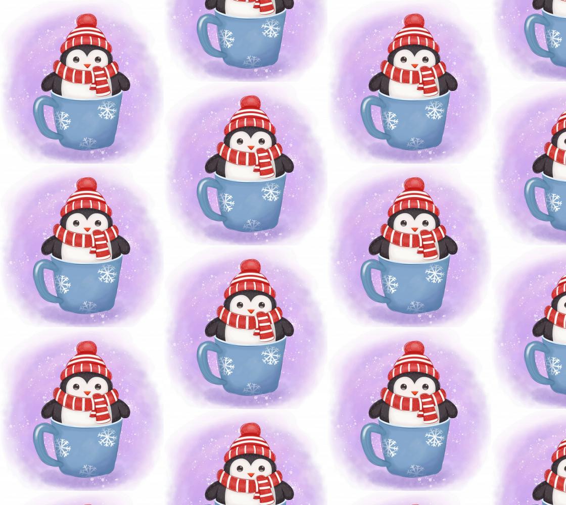 Aperçu de adorable Christmas Penguin in a mug