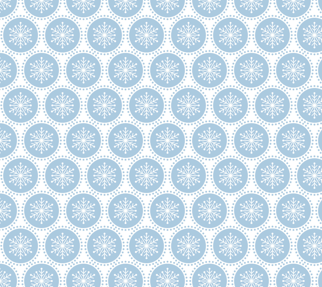 Aperçu de Snowflake Dots - Light Blue